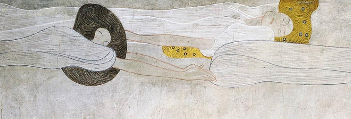 Gustav Klimt, Beethovenfries (Detail): Poesie