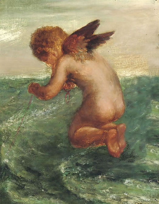 Good_Luck_to_your_Fishing_by_George_Frederick_Watts